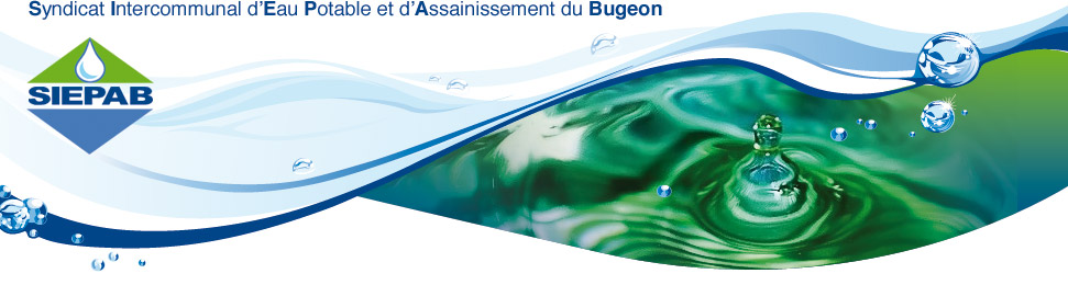 bandeau SYNDICAT INTERCOMMUNAL D'EAU POTABLE ET D'ASSAINISSEMENT DU BUGEON